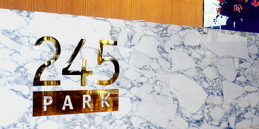 245 Park Reception Sign