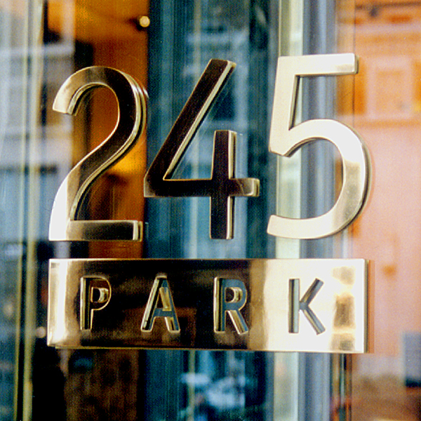 245 Park Entrance Sign