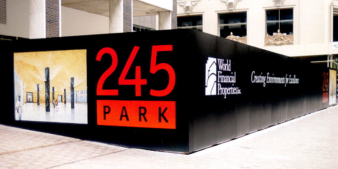 245 Park Hoarding Wall Ad