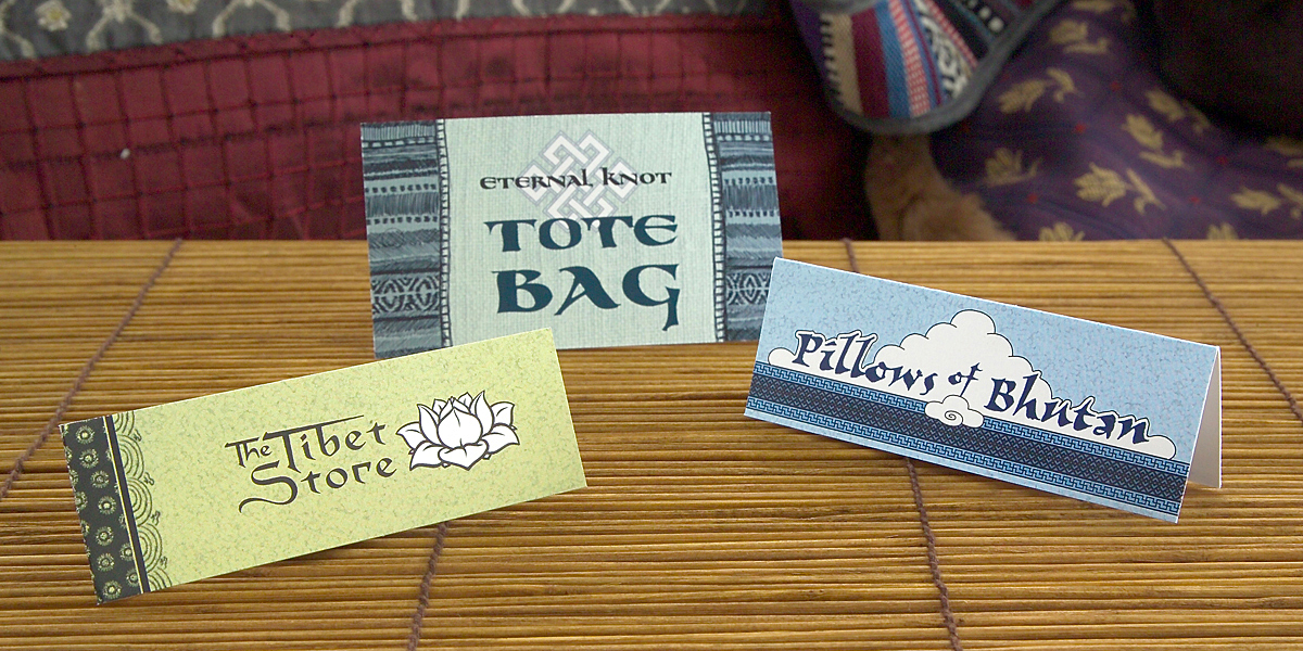 Tibet Store Product Tags
