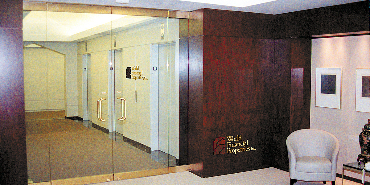 World Financial Properties Lobby Signage