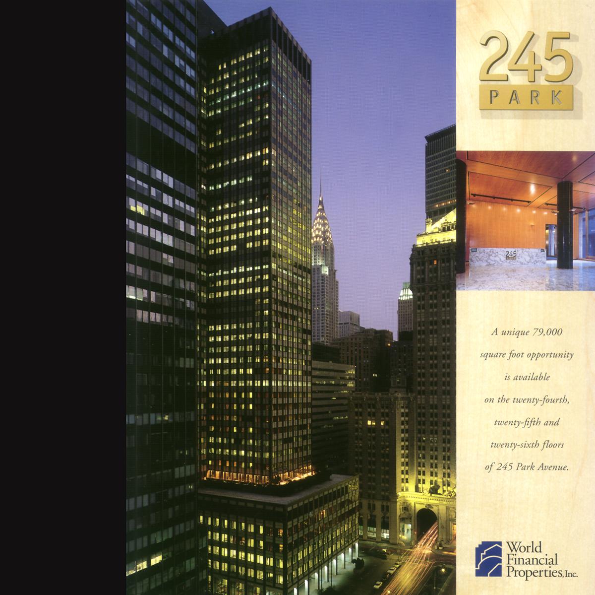 245 Park Sales Sheet