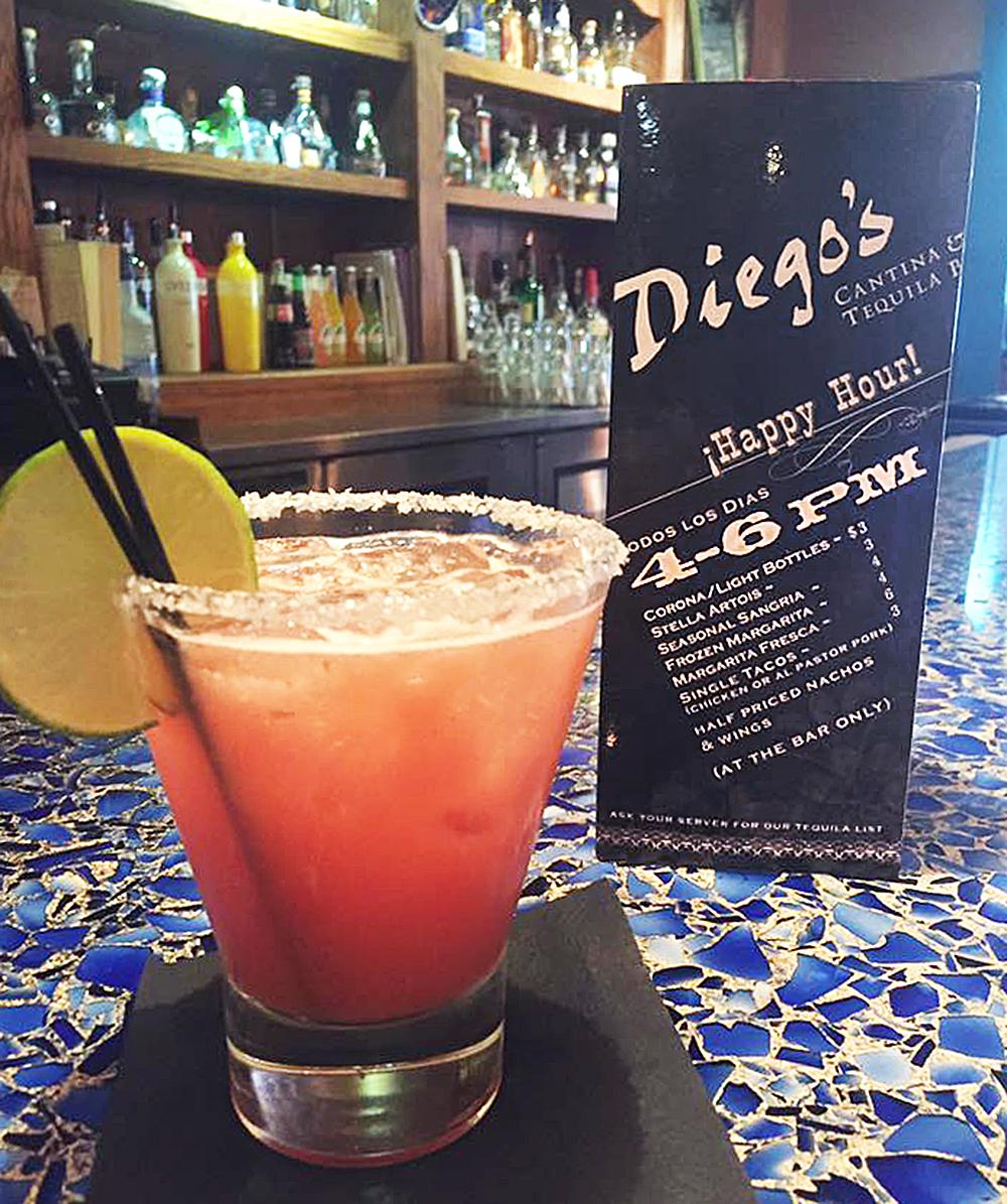 Diego's Drink Menu