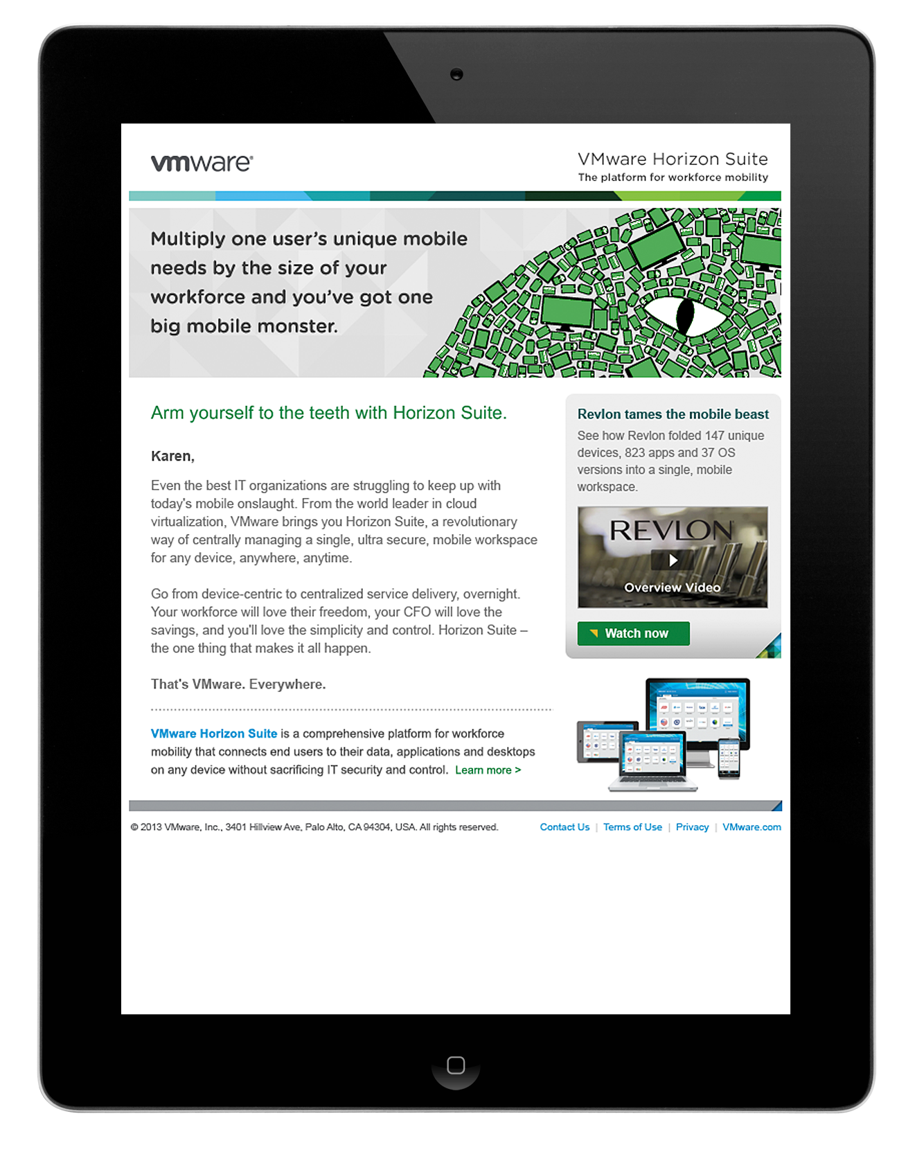 vmware Data Monster Campaign