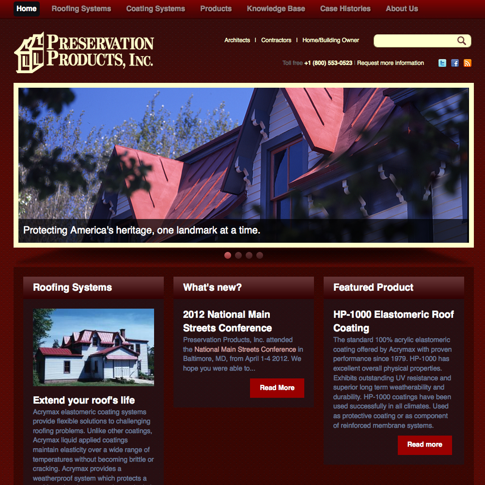 Preservation Products Website