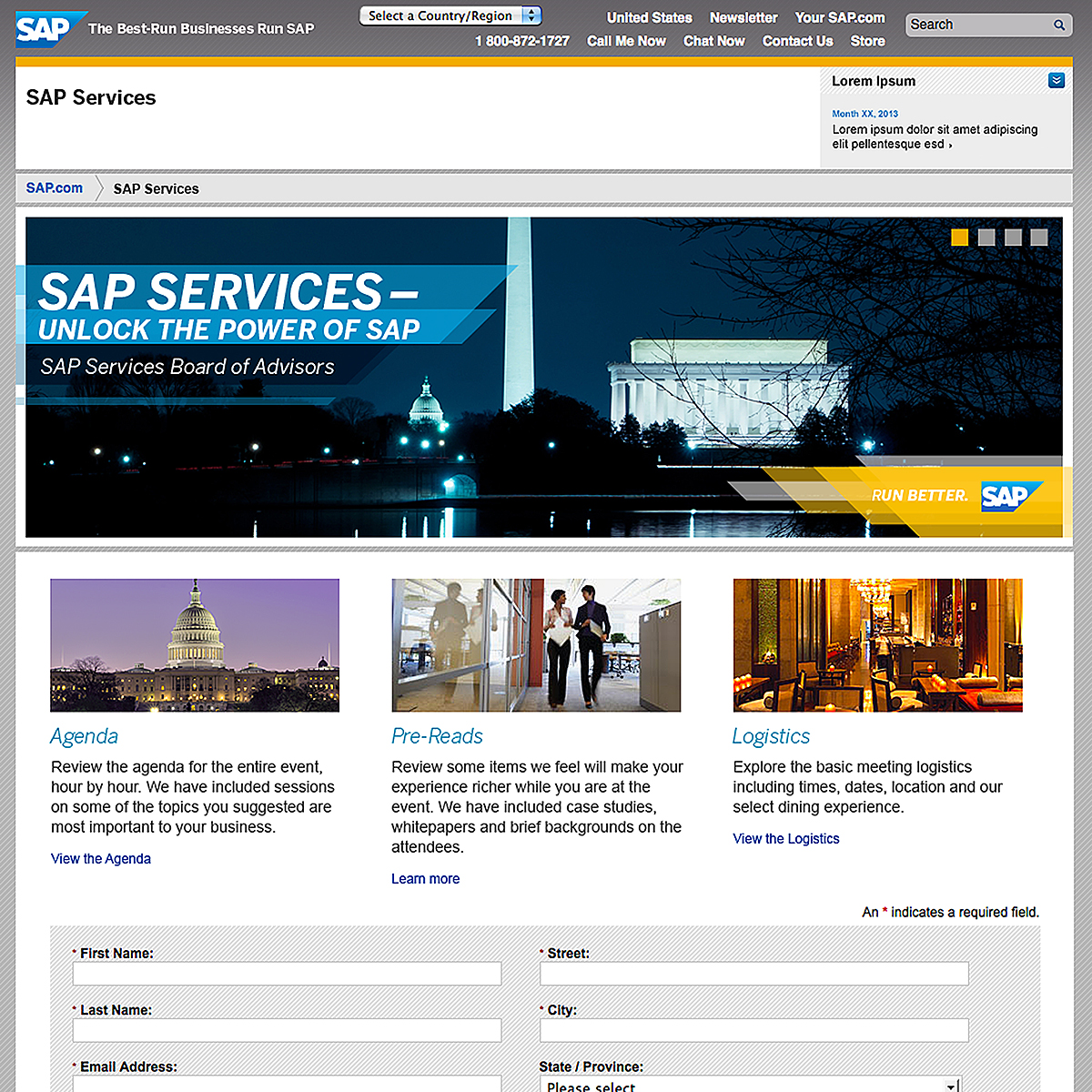 SAP Services Event