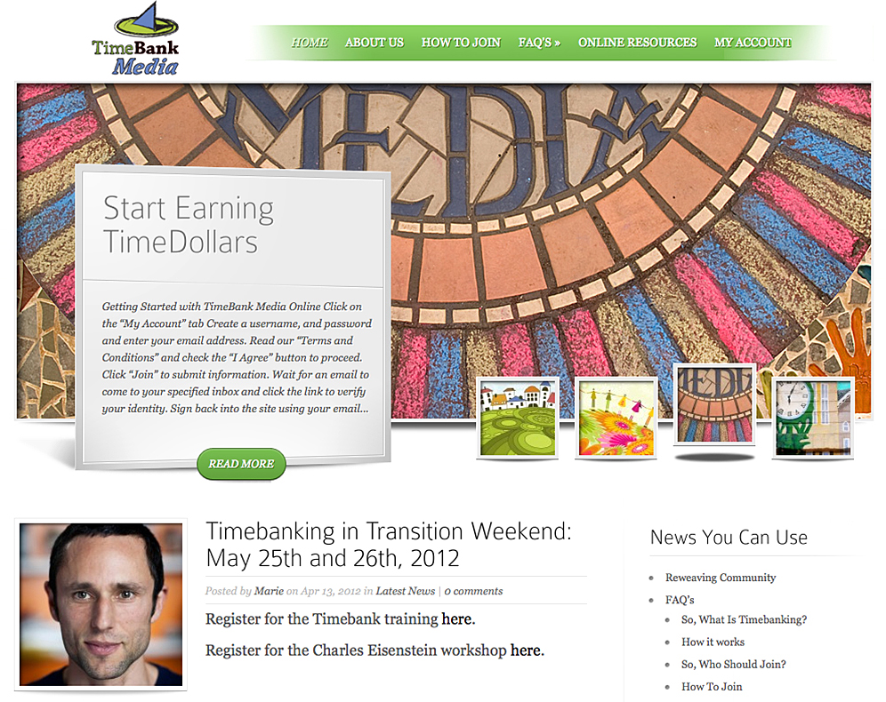 TimeBank Media Website