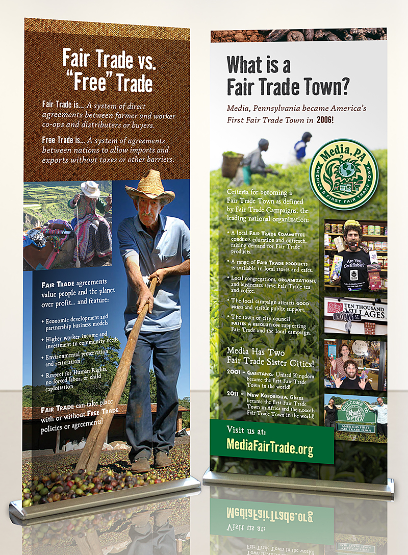 Media Fair Trade Pop-up Banners