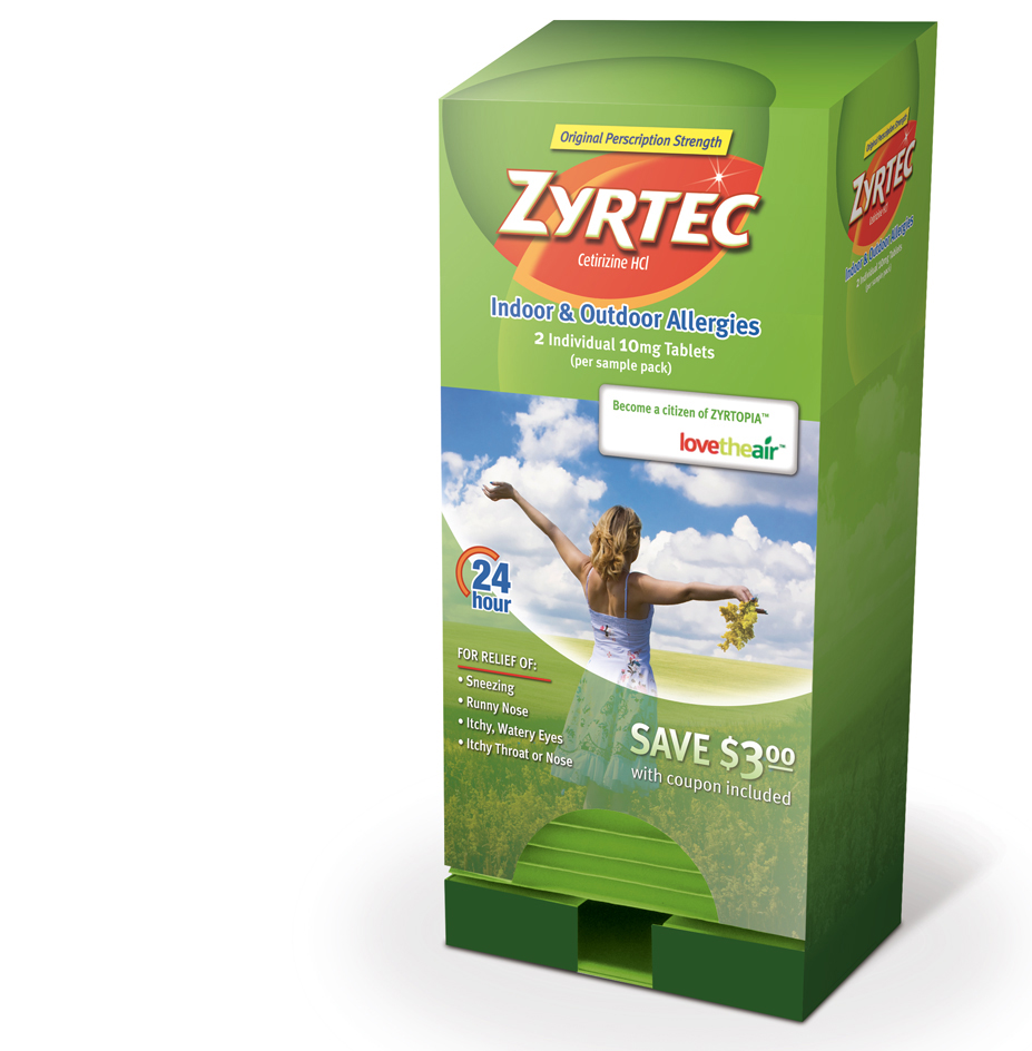 Zyrtec Sample Dispenser